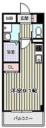 クリスタルエレガンスEAST[2階]の間取り