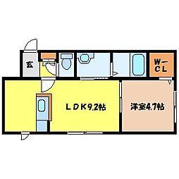 札幌市営東西線 西11丁目駅 徒歩10分の賃貸マンション 4階1LDKの間取り