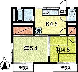 東京都杉並区高円寺南2丁目の賃貸アパートの間取り