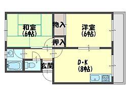 高橋マンション[4階]の間取り