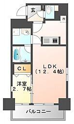 フレール江坂レジデンシャル[6階]の間取り
