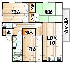 セジュール津崎[2階]の間取り