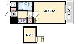 レインボーコア[403号室]の間取り