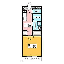 新築 スカイ・ピアII[2階]の間取り