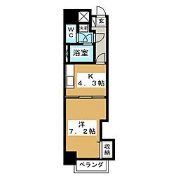 カヤバプラザE館[4階]の間取り