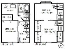 [一戸建] 東京都北区赤羽3丁目 の賃貸【/】の間取り