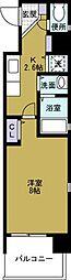 ボンジュール西九条[4階]の間取り