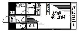 京阪本線 土居駅 徒歩3分の賃貸マンション 4階1Kの間取り