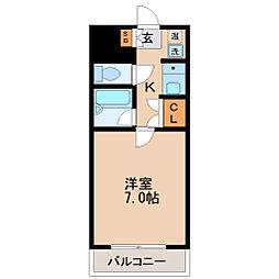 コスモハイツ小田原[3階]の間取り