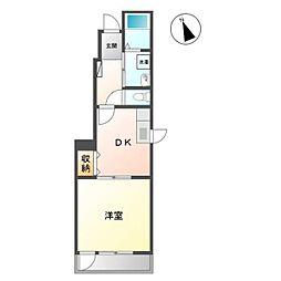 愛知県清須市廻間3丁目の賃貸アパートの間取り