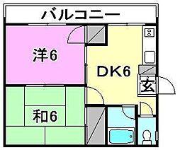 カーサ藤[201 号室号室]の間取り