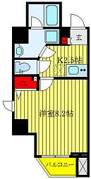 メイクスデザイン板橋本町II 2階1Kの間取り