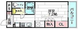 リブリ江坂[3階]の間取り