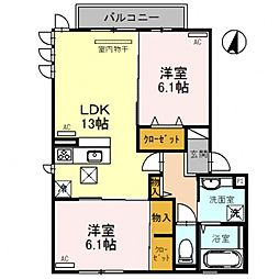 D-room平野市町2丁目[2O2号室号室]の間取り