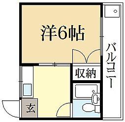 葵ハイツ[2階]の間取り