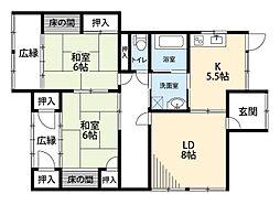 [一戸建] 福岡県中間市中央2丁目 の賃貸【/】の間取り