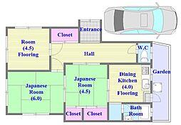[一戸建] 兵庫県神戸市垂水区王居殿2丁目 の賃貸【/】の間取り