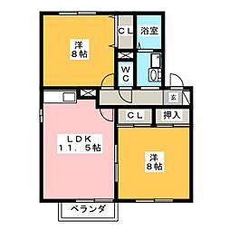 セピアコート大松[2階]の間取り