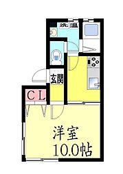 カネヨシ大石東町ビル[4F号室]の間取り