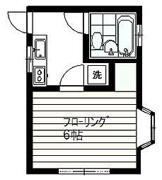 コスモハイム[B-2号室]の間取り