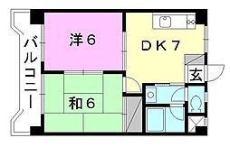 プレジデント矢野[302 号室号室]の間取り