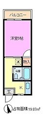 中央ハイツ[2階]の間取り