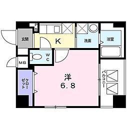 東京都台東区東浅草2丁目の賃貸マンションの間取り