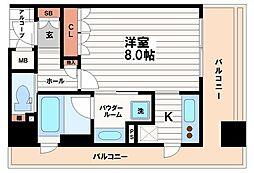 リーガル南船場2[4階]の間取り