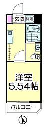 シャトーレイネB棟[2階]の間取り