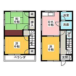[テラスハウス] 静岡県掛川市杉谷1丁目 の賃貸【/】の間取り