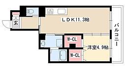 愛知県名古屋市瑞穂区苗代町の賃貸アパートの間取り