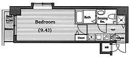 グランドガーラ西麻布[7階]の間取り