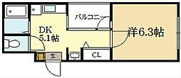KMビル[3階]の間取り