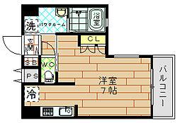 エイペックス南堀江[2階]の間取り