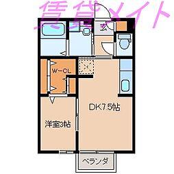 メゾンエトワール(船江)[2階]の間取り
