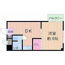 大阪府大阪市中央区島之内1丁目の賃貸マンションの間取り