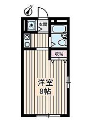 東京都世田谷区上馬2丁目の賃貸アパートの間取り