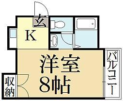 ショウゼンマンション[3階]の間取り