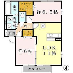 パストラル福田 B棟[1階]の間取り