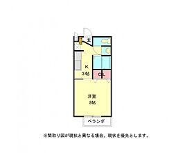 愛知県一宮市丹陽町九日市場字米野の賃貸アパートの間取り
