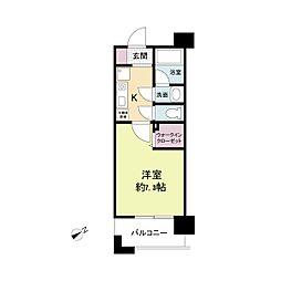 アーデンタワー神戸元町[1203号室]の間取り