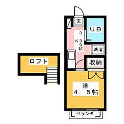 ココアハイツ[1階]の間取り