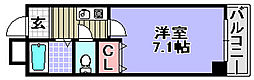 エクセレント岸和田弐番館[8階]の間取り