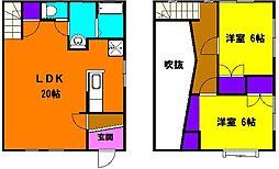 [テラスハウス] 静岡県浜松市南区三和町 の賃貸【静岡県 / 浜松市南区】の間取り