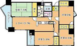 ハイマート黒崎[11階]の間取り