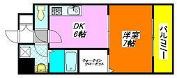 リメーン・II 208号室[2階]の間取り