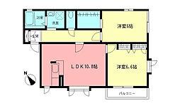 ラークヒルズIII[1階]の間取り