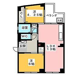 橘マンション[2階]の間取り