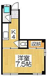 小堀マンション下川原[3階]の間取り