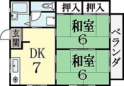フレグランスSAKO[2階]の間取り